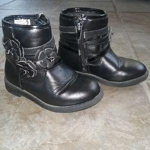 Piper Little GIrls Black Boots Size 8/EU 25